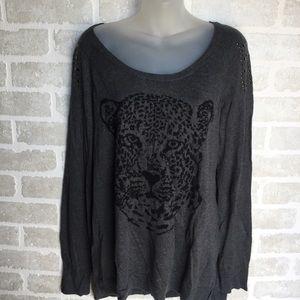 Women's XL Rock & Republic black sweater